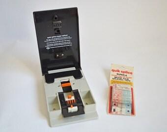 Vintage Quik Splice Super 8 Sound/Silent Film Splicer and Film Splicing Tape