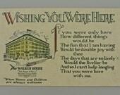 The Walker House Hotel Advertisement Post Card Post 1907 Unused.