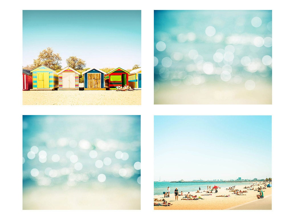 Beach Prints Photography Set 5x7 8x10 Photography Decor Beach