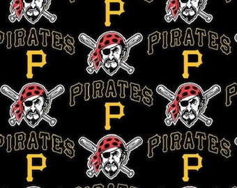MLB Pittsburgh Pirates Cotton Fabric by the yard