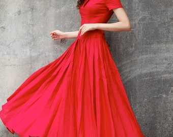Wine Red Maxi Dress/ Party Dress/ Prom Dress /Cocktail Dress for Women - NC707