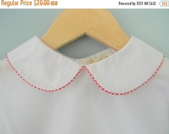 50% OFF SALE 50 Percent OFF Girl White Peter Pan Collar Blouse Shirt
