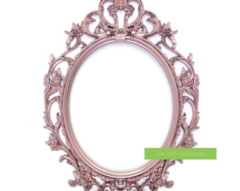 ROSE GOLD Oval Picture Frame Baroque Ornate Frame - Wedding and Photo Booth Signs