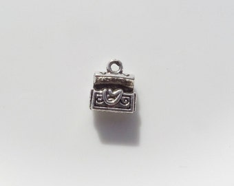 10CT. 11.5mm*10mm, Treasure Chest Charms, Y2
