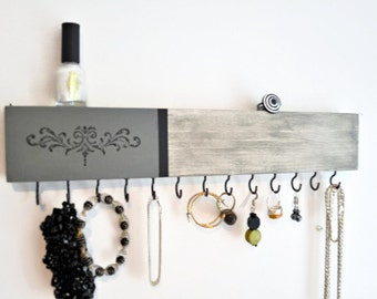 Jewelry Organizer, Jewelry Holder,Ornate, Rustic,Pick your Color