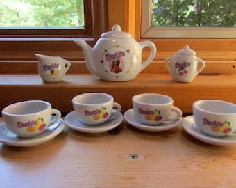 COMPLETE Barbie Tea Set of 13 Children's Tea Party