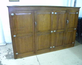nice shape vintage 1930s 1940s raised paneled KITCHEN CUPBOARD CABINET pick up only