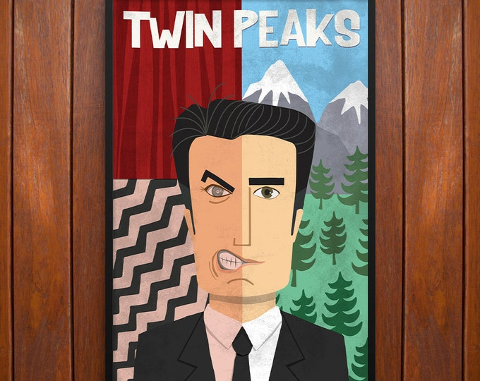 Twin Peaks Poster, Dale Cooper, Poster or Framed Print