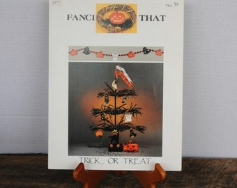 Fanci That Trick or Treat Counted Cross Stitch Pattern Pamplet No. 35 1991