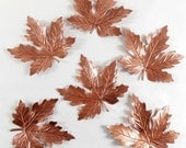 Brass leaves, Maple leaves, Jewelry Making, Old Rose Ox, Antique Copper, Bsue Boutiques, US Made, 55 x 55mm, Item07050