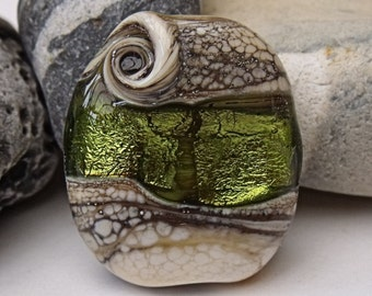 Celtic Magic, Lampwork Focal Bead, SRA, UK