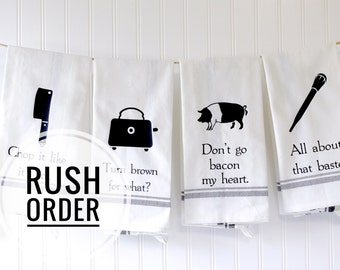 Rush Order Upgrade for Kitchen Towels