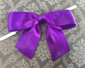 12 Haze Purple Pre-made Bow Embellishments