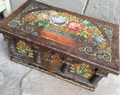 Painted Bavarian Box sample wedding chest