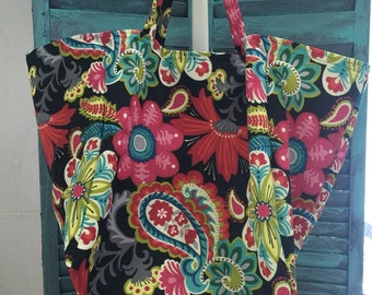 HUGE tote bag/reusable shopping bag/market tote/beach bag