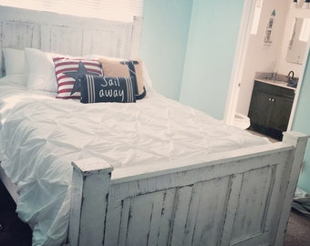 Shabby Chic bed frame built from solid wood