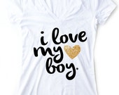 Mom Shirt, Love my Boy, Valentines Days Mom Shirt I love my Boys, Pregnancy Announcement Shirt I Love my Kids