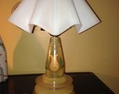 REDUCED!! Mid Century Modern Lucite Lamp - Flying Saucer