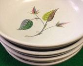 Denby England - Spring pattern. Designer A. College. 4 Soup/Cereal Bowls