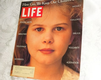 Vintage Life Magazine Children How Can We Keep Our Children Safe? July 1995