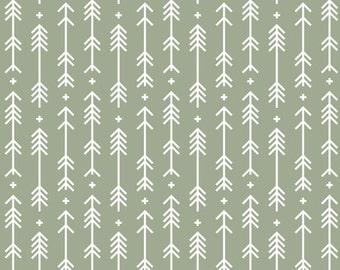 Sage Green Arrow Plus Crib Skirt