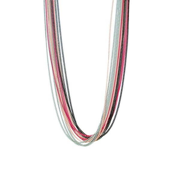 Tonal Pink Layering Necklace