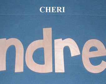 "SALE :) Wall Letters - Unpainted Wood - Cheri - plus other Fonts - Gifts and Decor for Nursery, Home, Playrooms, Dorms - 10"" Size"