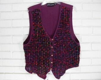 Vintage '' Potholder '' cotton vest size 2X