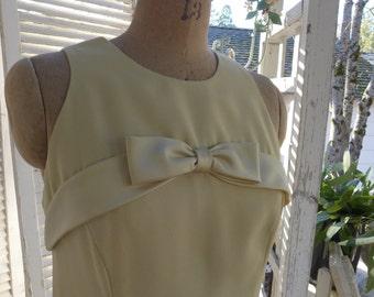 SALE 60s Evening Dress Pale Gold Jackie O style Prestige Formal