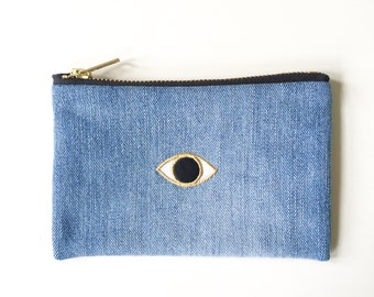 Magic Eye Wallet - Hand Crafted from Salvaged Jeans