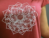 Lotus Flower of Life Heart Chakra t-shirt / Womens Sacred Geometry clothing / Bamboo and organic Cotton tee / valentines day gift for her