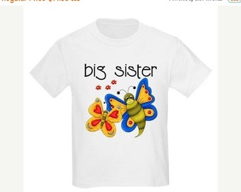 ON SALE Big Sister Butterfly Personalized T Shirt
