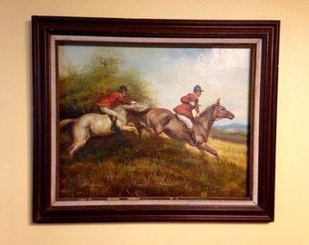 Fox Hunt Painting