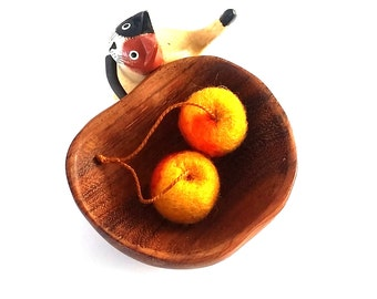Yellow Rainier Cherries Cat Toy - Needle Felted Wool
