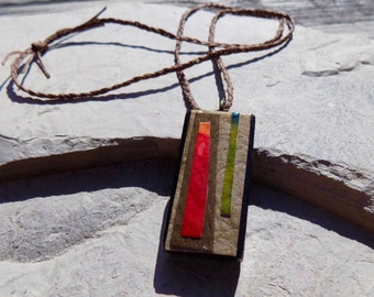 Two-Sided Wooden Necklace