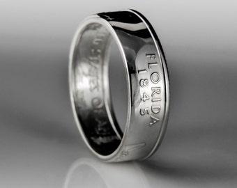 Florida Quarter - Coin Ring - SILVER (.900)