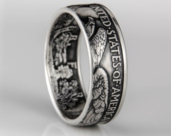 Walking Liberty Coin Ring (Tails out) - Silver (.900)