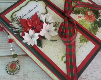 Handmade scrapbook album - Christmas memories