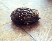 Walk by Faith: Versatile crocheted necklace / bracelet / belt / headband