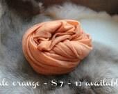 SALE newborn photography prop,  pale orange stretch wrap, photo prop layering, photography prop,newborn photo wrap,baby shower gift
