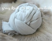 SALE newborn photography prop, light gray knit stretch wrap photo prop layering photography prop newborn photo wrap