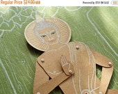 SALE Buddha articulated paper doll buddhism yoga meditation paper puppet unique unusual gift birthday spiritual present kraft paper decorati