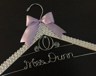 Cinderella BLING & PEARL Hanger / Disney Wedding Hanger / Bridal Hanger / Disney Bride Hanger / Cinderella Wedding / Disney Wedding