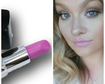 Matte Pink Lipstick  Bright Barbie Pink Vegan Paraben-Free Mineral Makeup Matte finish ONCE UPON A TIME