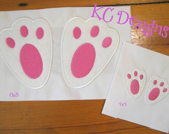 Easter Bunny Feet Machine Applique Embroidery Design - 4x4, 5x7 & 6x8