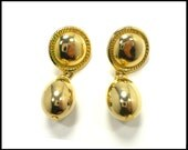 Gold Dangle Earrings, Large Gold Teardrop, Pierced Earrings, Long Gold Earrings, Chunky Gold Earrings, Statement Earrings, Gift For Her