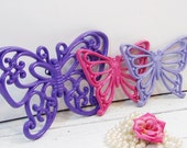 Vintage Butterflies Pink Purple Lavender Nursery Girls Room Homco Syroco