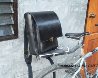 RANDOSERU Japanese style backpack for kids/ women/ men/ made of saddle leather color black