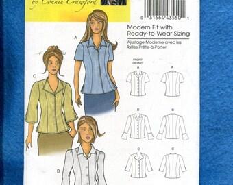 Butterick 5538 Modern Fit Princess Seam Shirts Size XXL to 6X UNCUT