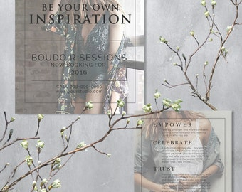 Marketing Template for Photographers, Boudoir Couture Marketing, 5x5 Booking Now Card INSTANT DOWNLOAD, B121